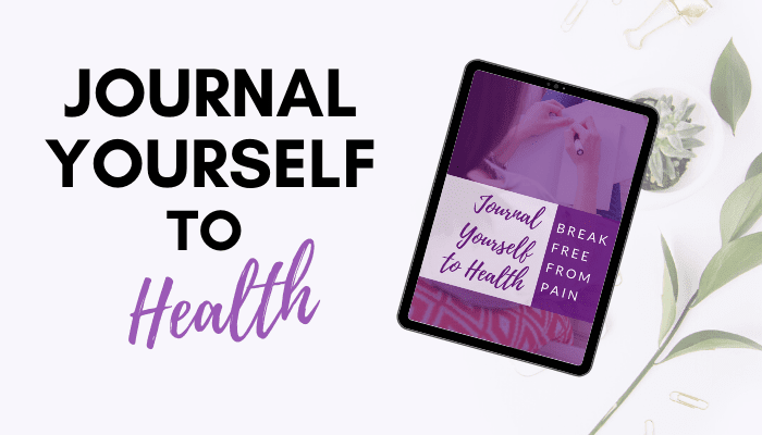 journal yourself to health workbook by dr. michele ross on ipad