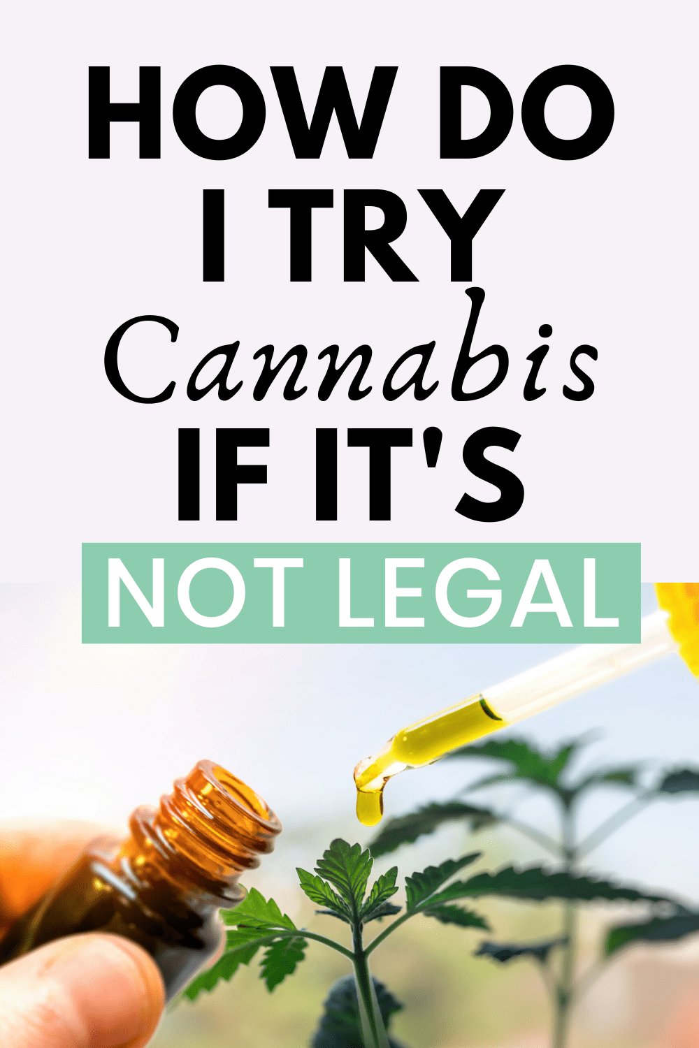How Do I Try Cannabis If It\'s Not Legal?