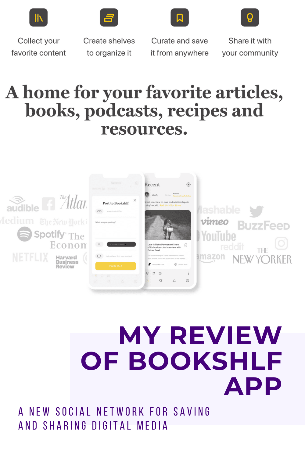Bookshlf: A New App For Curating and Sharing Media