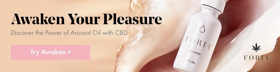 try awaken FORIA CBD oil lube for sex