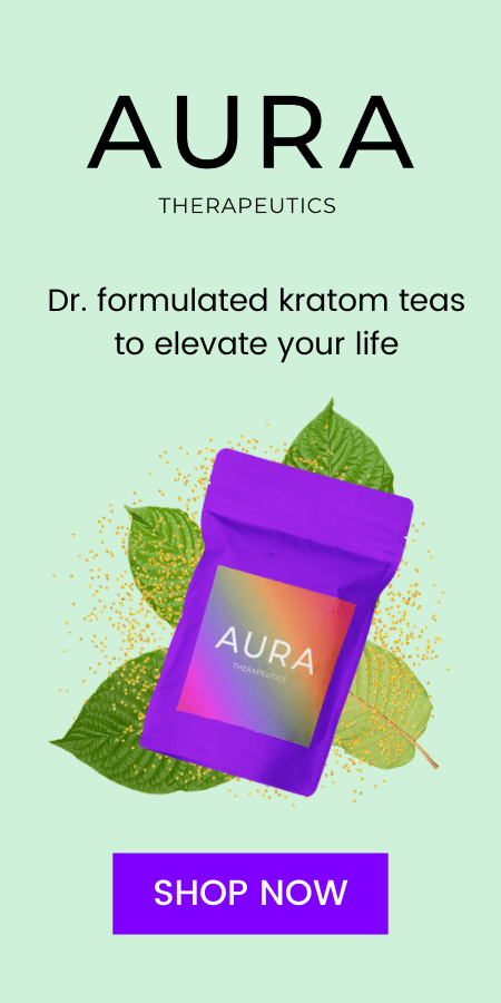 Buy mood-boosting premium kratom teas at AURA Therapeutics
