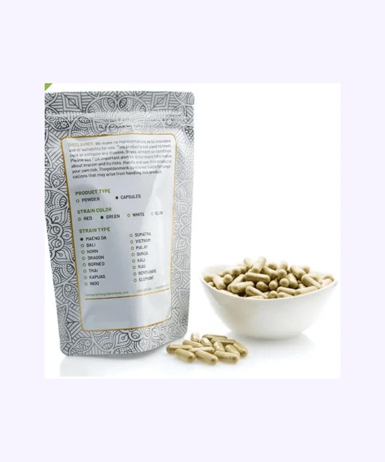 best kratom capsules from Golden Monk